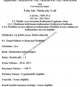 NİTRİK ASİT MSDS