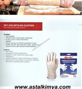PET Polietilen Eldiven  ( Kuaförler, Gıda sektörü ve Temizlik Sektörü )