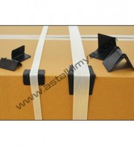 Köşebent - GENİŞ,Plastik Siyah ,16- 19 mm, PLASTİK ÇEMBER BAĞLAMAK İÇİNDİR.