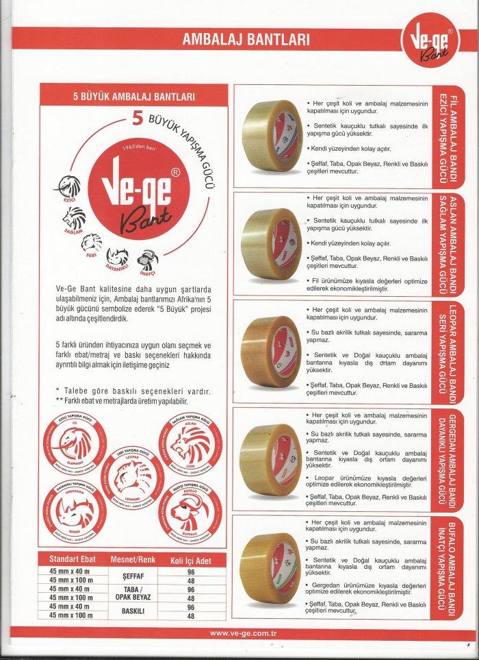 1-AMBALAJ ve YAPIŞTIRICI BANTLAR  ( PAJKING,Adhesive Tapes )
